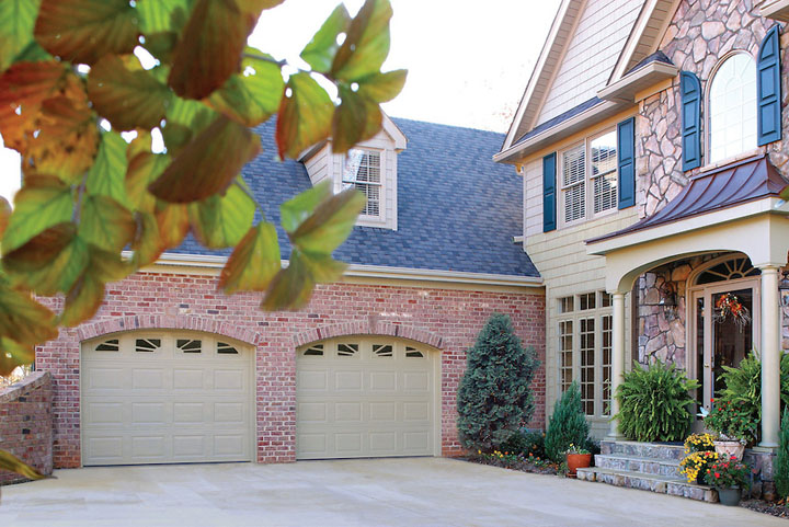 Amarr Heritage Short Panel Sunray Arched Garage Door