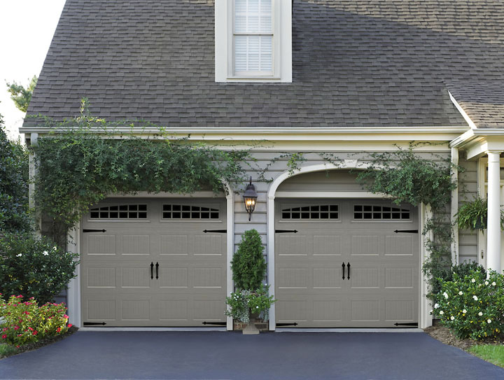 Attrayant These Affordable Steel Carriage House Doors Come In Several Choices Of  Panel Designs And Are Built With The Amarr Safe Guard System And R Value  6.48 U2013 6.64.